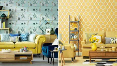 """10款""""重口味""""鲜艳墙纸 造清新沙发背景墙"""