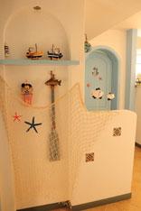 蔚蓝的港湾 地中海风情一居室