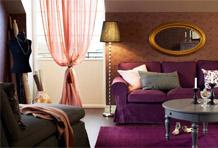 紫色小奢华沙发区搭配