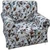 田园布艺单人沙发