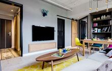 53平混搭风格公寓效果图 丰富多元空间