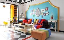 120平地中海风格三居室装修 七彩童话风格