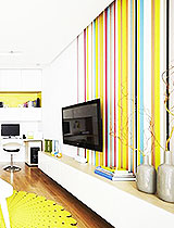 条纹电视墙壁纸图片
