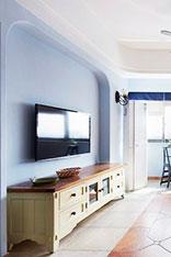 小清新客厅电视背景墙