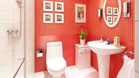 热情简约卫生间 13款红色瓷砖效果图