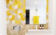 简洁卫生间妙方 13图炫酷几何图案