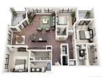 大格局定位:一阳台、一卧室、一客厅、一书房