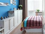 4、组合矮柜利用床尾空间